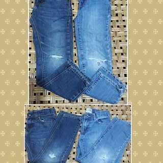 Branded ripped jeans skinny