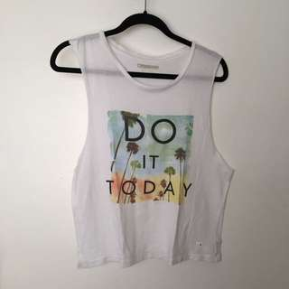 Printed Statement Muscle Tee