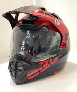 Red-blue color BEON 2-in-1 full face helmet