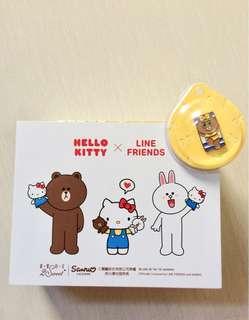 Tempat Penyimpanan Barang Kosmetik Box Hello Kitty and LINE Friends