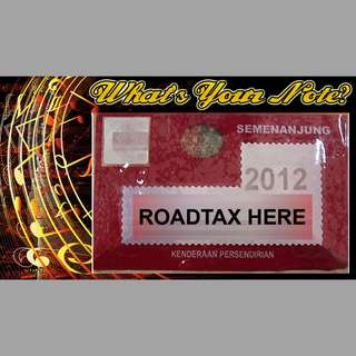 Road Tax Sticker - What's Your Note