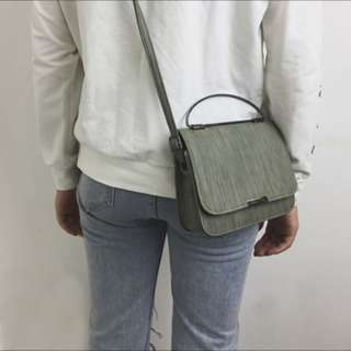 Brand New Grey-Green Sling Bag