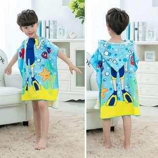 🚚 兒童披風 / 沙灘巾 / 游泳巾 / 浴巾 / 浴袍