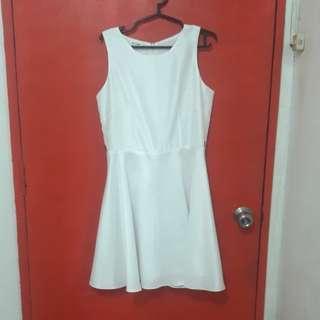 White A line dress