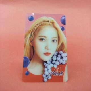 Red Velvet Yeri Transparent Card