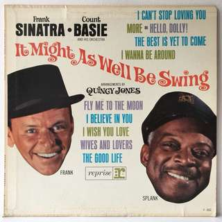 Frank Sinatra • Count Basie And His Orchestra* ‎– It Might As Well Be Swing (1964 US Pressing - Vinyl is Excellent)