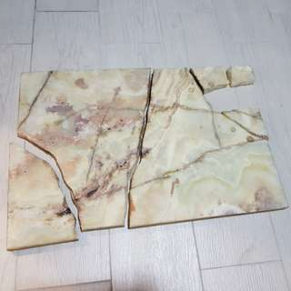 Marble slab loose pieces