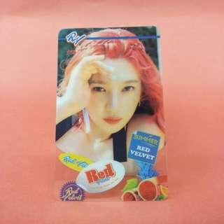 Red Velvet Joy Transparent Card