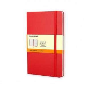 MOLESKINE經典紅色硬皮橫間簿