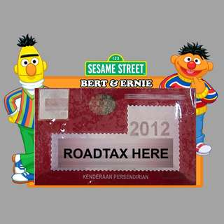 Road Tax Sticker Sesame Street - Bert & Ernie