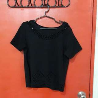 Black laser cut top