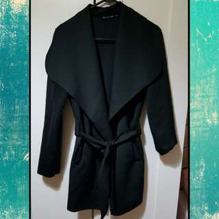 Black waterfall jacket