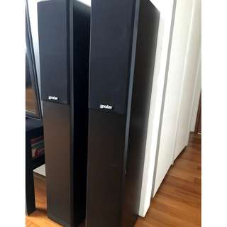 Hifi audiophile quality stereo music speaker pair