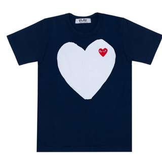 [BNIBWT] COMME des GARCONS PLAY CDG Fall/Winter 2012 Navy Collection T-Shirt (Female Women Fit) | London Dover Street Market