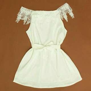 White offshoulder dress