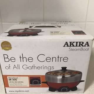 Akira Steamboat with non stick grill plate