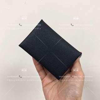 100% Authentic & Brand New Hermès Calvi card holder
