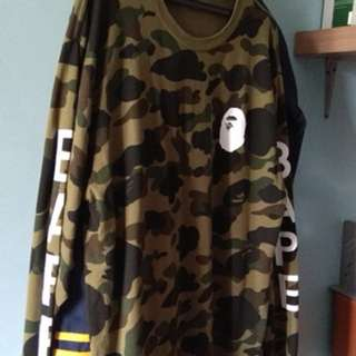 A BATHING APE 1ST CAMO L/S
