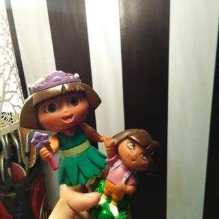 Dora The Explorer And Princess Dora Figurine Set