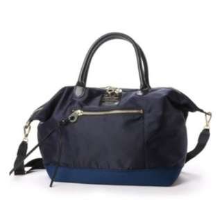 Original Japan (anello x legato largo) 3 way tote bag should bag hand bag(Large size, Navy color)