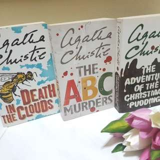 Agatha Christie books - The Adventure of the Christmas Pudding, The ABC Murders, Death in the Clouds