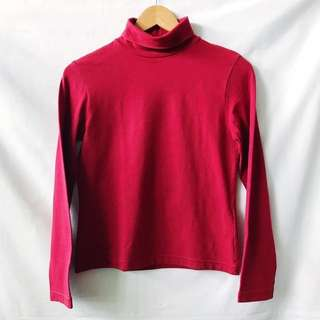 Giordano Red Turtle neck sweater