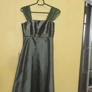 GREEN GOWN FOR GIRLS