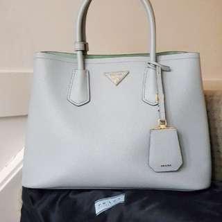 💯 % Authentic Prada Sky Blue Double Bag