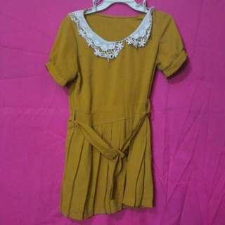 Yellow / Mustard Dress with belt