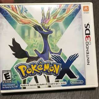 3DS Pokemon X box