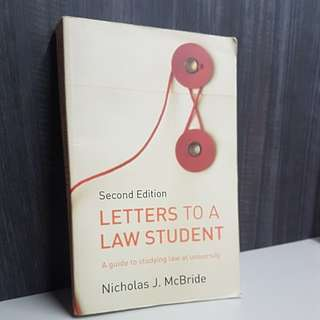 Letter to a Law Student (Law Guide)