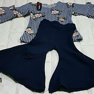 Azura set  with bellbottom kid muslim