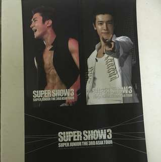 Super Show 3 postcard A4 size 1 pcs