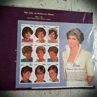 戴安娜Diana 郵票 stamp