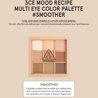 (INSTOCK) 3CE MOOD RECIPE MULTI EYESHADOW COLOR PALETTE #SMOOTHER