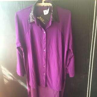 Purple Magician inspired polo