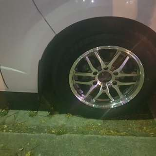 Hiace rim with tyre