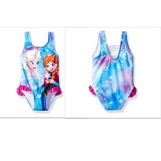 SALE 65% Off - 12 Mths BNWT Authentic Disney Store Frozen swimsuit. Protects sun rays up to 50 SPF Size 12 Mths (cutting small suit 9-12 Mths)