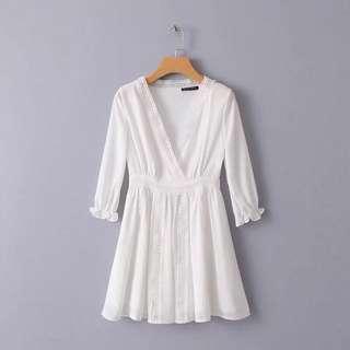 🔥Europe Lace Hollow Dress Skirt