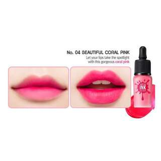 Peri Pera Airy Ink Velvet (No.04 Beautiful Coral Pink)