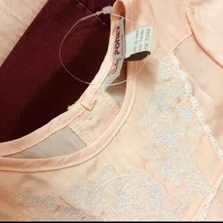 Poney Comfy Embroidered Tops Blouse