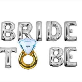 """Bride T💍Be"" Foil Balloon Set"