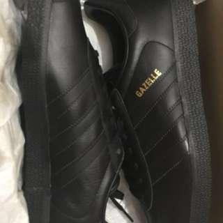 ORIGINAL Adidas Gazelle (All-Black Leather)
