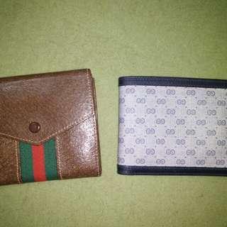 Gucci 古董皮夾 咖啡色綠紅綠 (左手邊) 乾淨漂亮