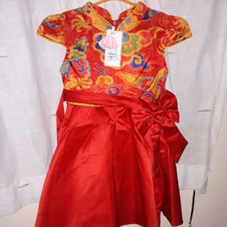 Red dres cheongsam size 7th-8th