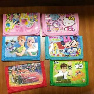 Kids goodie bag cartoon wallet x 42 pcs for children birthday party