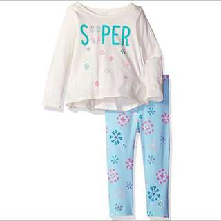 SALE 55% Off - 12-18 Mths BNWT The Children's Place 2pc baby girls set (longsleeve top and long pants)