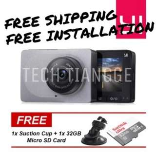 Xiaomi Yi Dashcam + FREE INSTALLATION + FREE SHIPPING + FREE Suction Cup + FREE 1x 32GB Micro SD Card