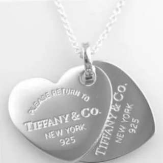 S925 double heart necklace