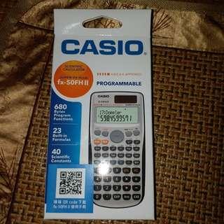 全新 CASIO FX 50 FH II 計數機 連收據 有保養 calculator 數學 Dse必備